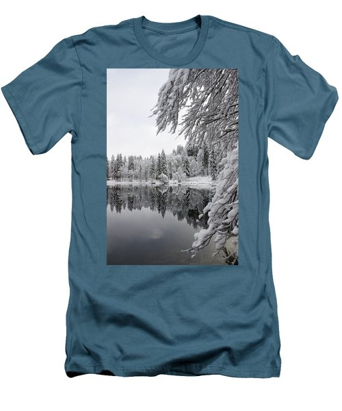 Wintery Reflections Men's T-Shirt (Athletic Fit)