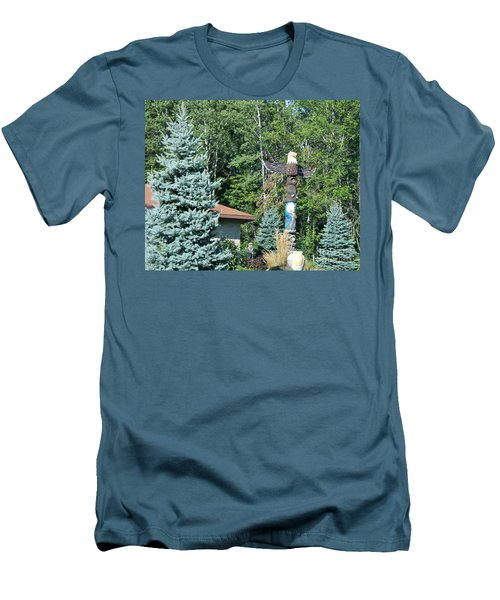 Yard Totem Men's T-Shirt (Slim Fit) by Pamela Walrath