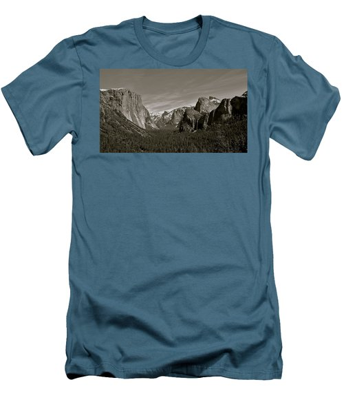 Men's T-Shirt (Slim Fit) featuring the photograph Yosemite Valley by Eric Tressler
