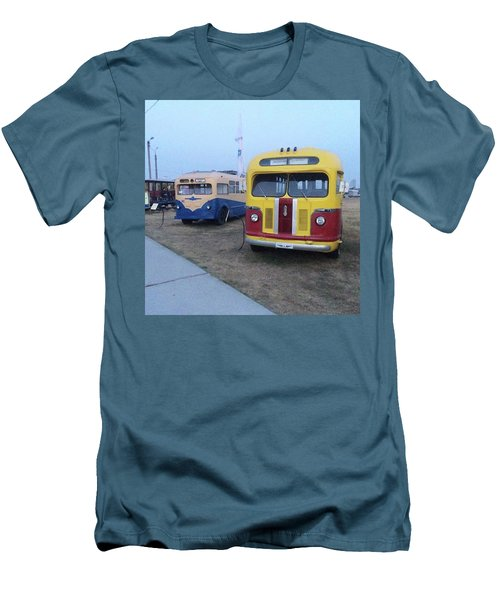 Retro Bus Men's T-Shirt (Slim Fit)