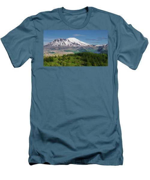 Castle Lake And Mt. St. Helens Men's T-Shirt (Athletic Fit)