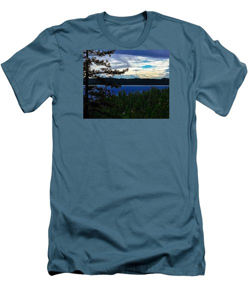 Men's T-Shirt (Slim Fit) featuring the photograph  Chrystal Blue Waters by B Wayne Mullins