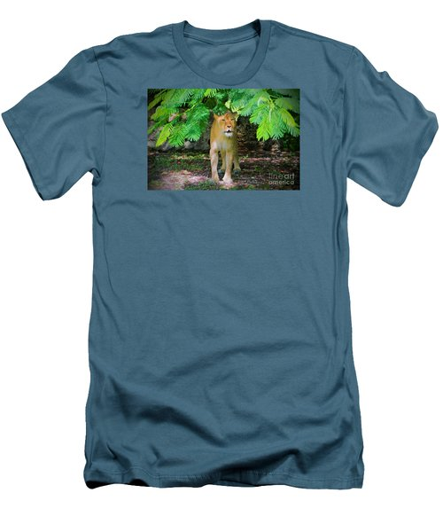 Men's T-Shirt (Slim Fit) featuring the painting  Emerging From The Shadows by Judy Kay