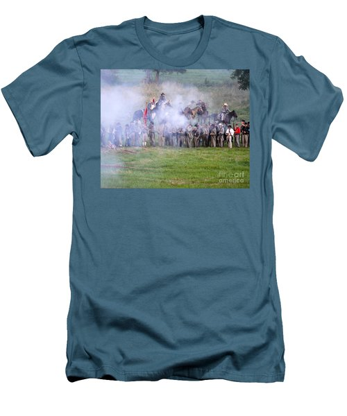 Gettysburg Confederate Infantry 7503c Men's T-Shirt (Athletic Fit)