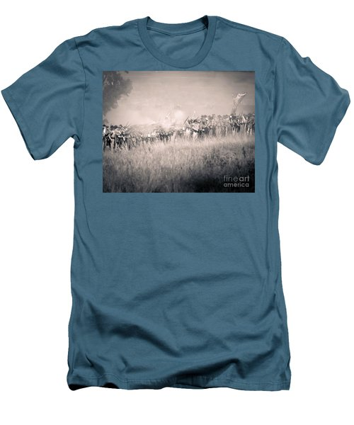 Gettysburg Confederate Infantry 9112s Men's T-Shirt (Athletic Fit)