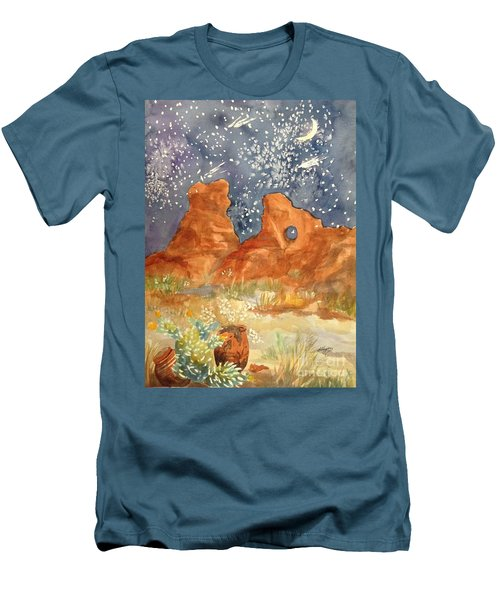 Starry Night In The Desert Men's T-Shirt (Athletic Fit)