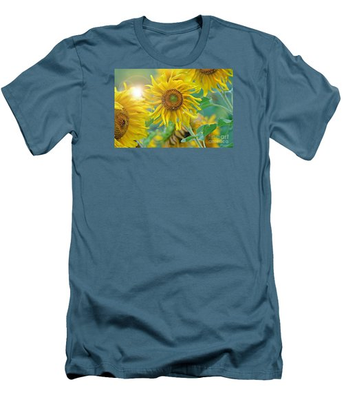 Sunflower Men's T-Shirt (Slim Fit) by Lila Fisher-Wenzel
