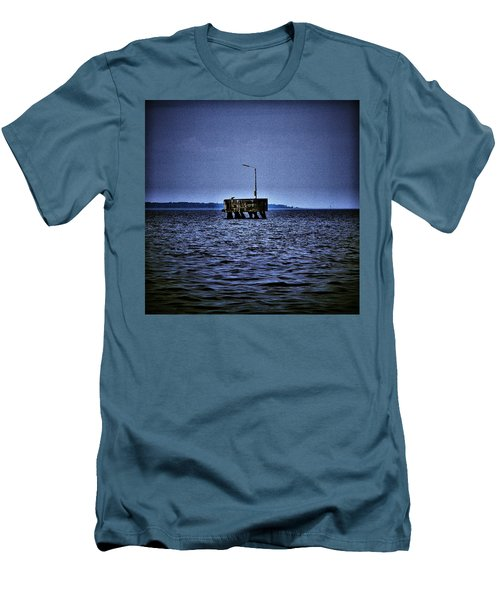 Men's T-Shirt (Slim Fit) featuring the photograph  The Dock Of Loneliness by Jouko Lehto