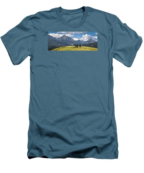 #0491 - Spanish Peaks, Southwest Montana Men's T-Shirt (Athletic Fit)