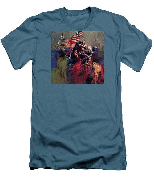 062 Jima Marine Memorial Washington Dc Men's T-Shirt (Slim Fit) by Maryam Mughal