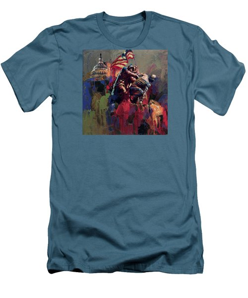 062 Jima Marine Memorial Washington Dc Men's T-Shirt (Athletic Fit)