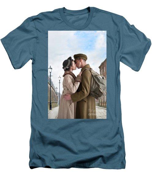 1940s Lovers Men's T-Shirt (Slim Fit) by Lee Avison