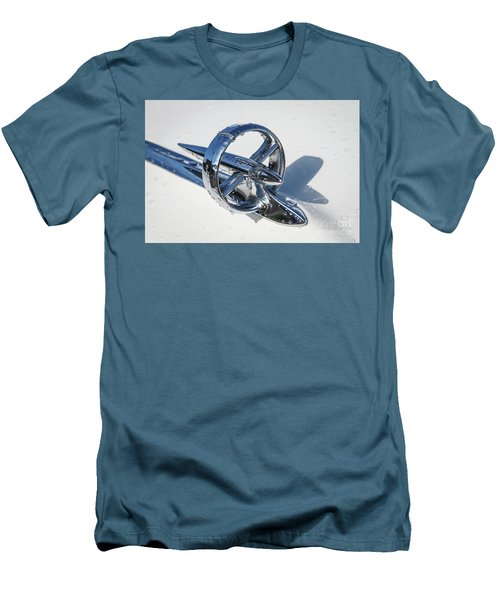 Men's T-Shirt (Slim Fit) featuring the photograph 1953 Buick Hood Ornament by Dennis Hedberg