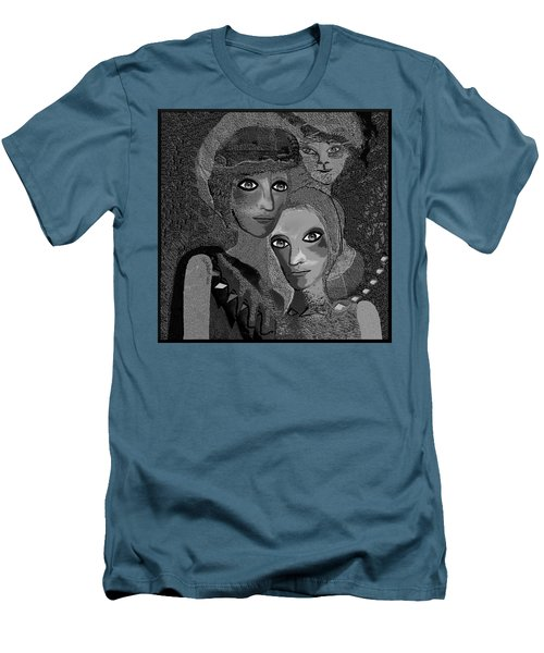 Men's T-Shirt (Slim Fit) featuring the digital art 451 - To Lean On by Irmgard Schoendorf Welch