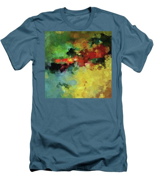 Men's T-Shirt (Slim Fit) featuring the painting Abstract And Minimalist  Landscape Painting by Ayse Deniz
