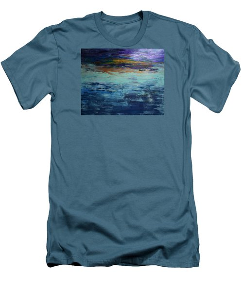 Abstract Blue Men's T-Shirt (Athletic Fit)