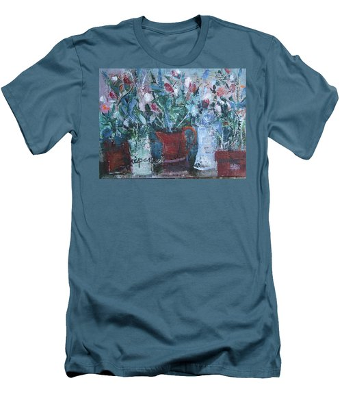 Abstract Flowers Men's T-Shirt (Slim Fit) by Betty Pieper