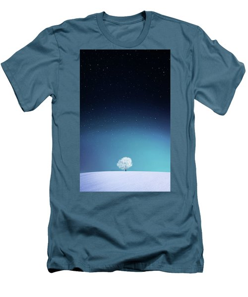Apple Men's T-Shirt (Slim Fit) by Bess Hamiti