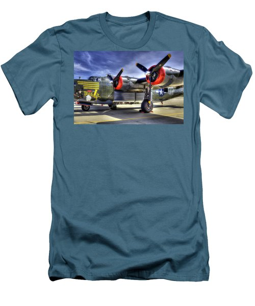 B-24 Men's T-Shirt (Slim Fit) by Joe  Palermo