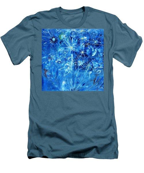Blue Design Men's T-Shirt (Athletic Fit)