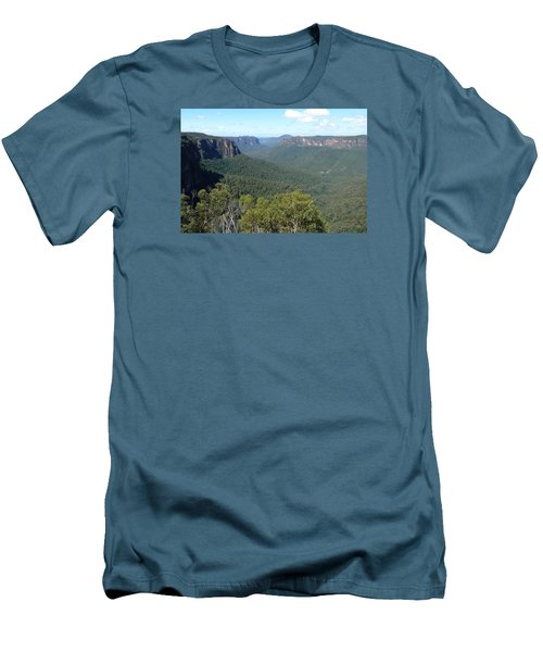 Blue Mountains Men's T-Shirt (Slim Fit) by Carla Parris