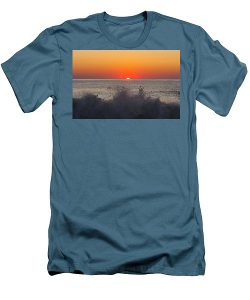 Breaking Wave At Sunrise Men's T-Shirt (Athletic Fit)
