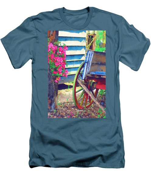 Men's T-Shirt (Slim Fit) featuring the photograph Broken Wagon by Donna Bentley