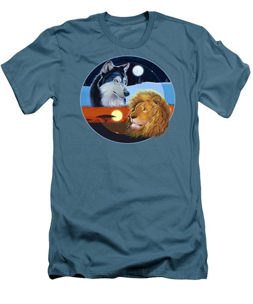 Men's T-Shirt (Athletic Fit) featuring the mixed media Celestial Kings Circular by J L Meadows