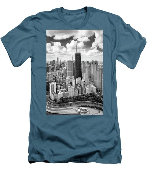 Men's T-Shirt (Athletic Fit) featuring the photograph Chicago's Gold Coast by Adam Romanowicz