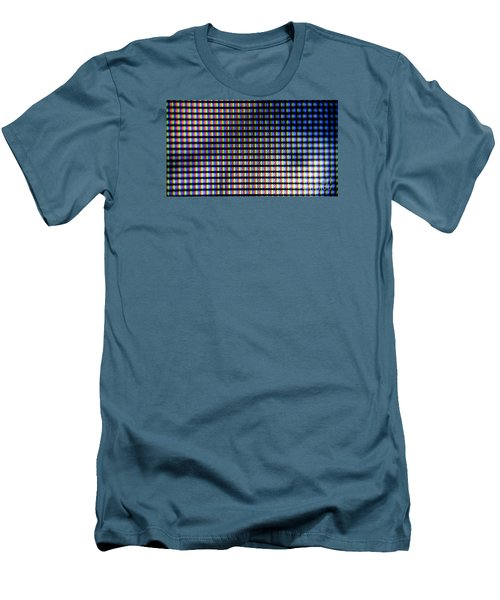 Men's T-Shirt (Slim Fit) featuring the photograph Clouseup Of The Plasma Tv Screen by Odon Czintos