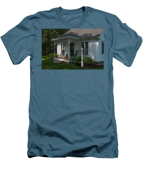 Come Sit On My Porch Men's T-Shirt (Slim Fit) by Brenda Jacobs