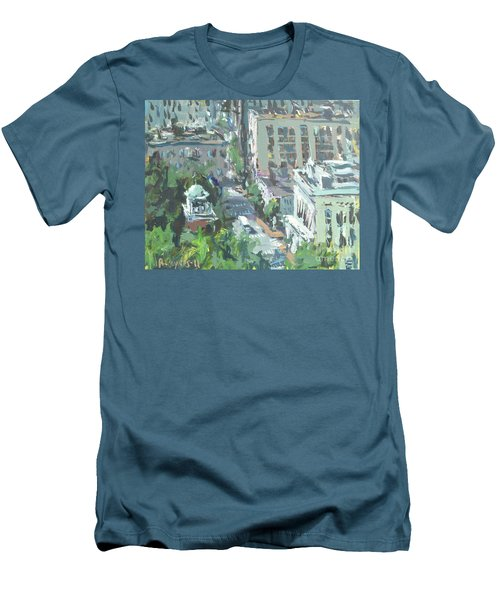 Contemporary Richmond Virginia Cityscape Painting Men's T-Shirt (Athletic Fit)