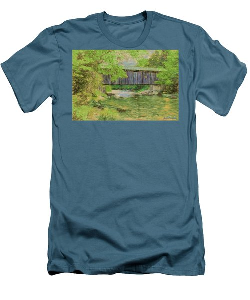 Cool And Green And Shady Men's T-Shirt (Slim Fit) by John Selmer Sr