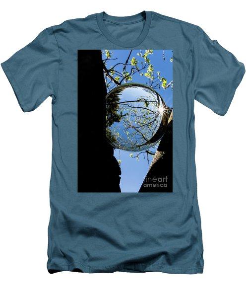 Crystal Reflection Men's T-Shirt (Slim Fit) by Deborah Klubertanz