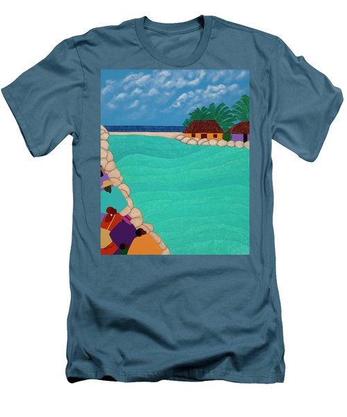 Curacao Lagoon Men's T-Shirt (Athletic Fit)