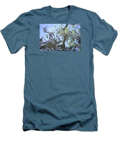 Men's T-Shirt (Slim Fit) featuring the photograph Dancing Leaves by Linda Geiger