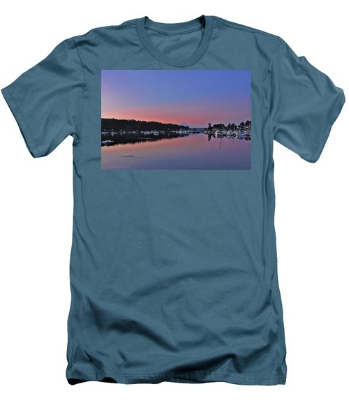 Men's T-Shirt (Slim Fit) featuring the photograph Dawn At Gig Harbor by Jack Moskovita