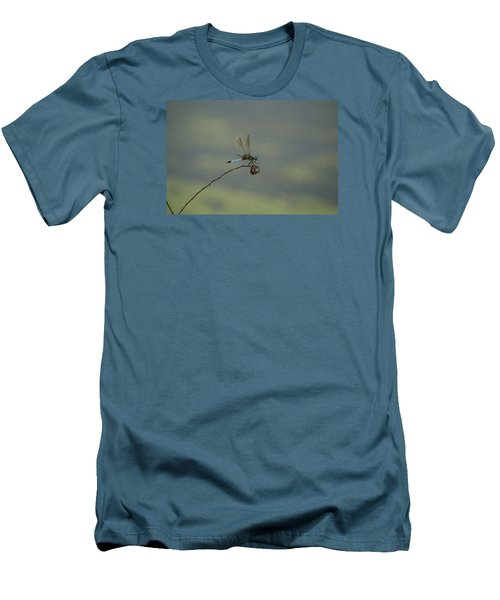 Men's T-Shirt (Slim Fit) featuring the photograph Dragonfly by Heidi Poulin