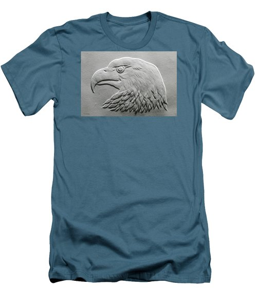 Eagle Head Relief Drawing Men's T-Shirt (Slim Fit) by Suhas Tavkar