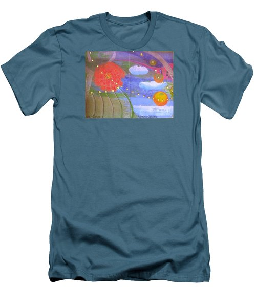 Men's T-Shirt (Athletic Fit) featuring the drawing Fantasy Garden by Rod Ismay