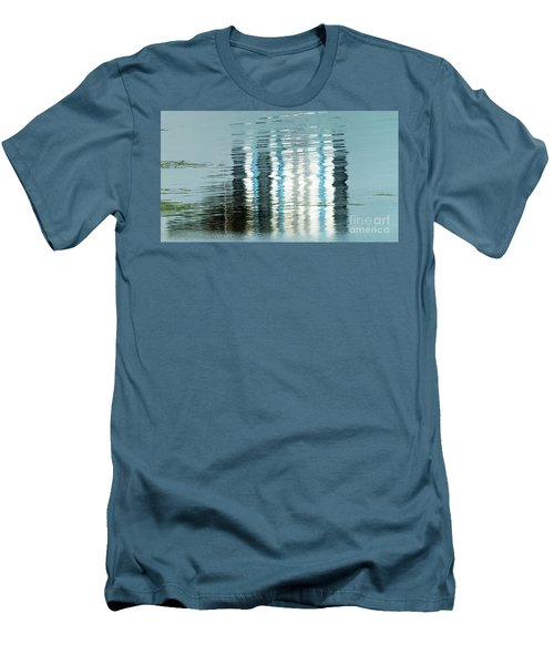 Men's T-Shirt (Athletic Fit) featuring the photograph Floating On Blue 44 by Wendy Wilton