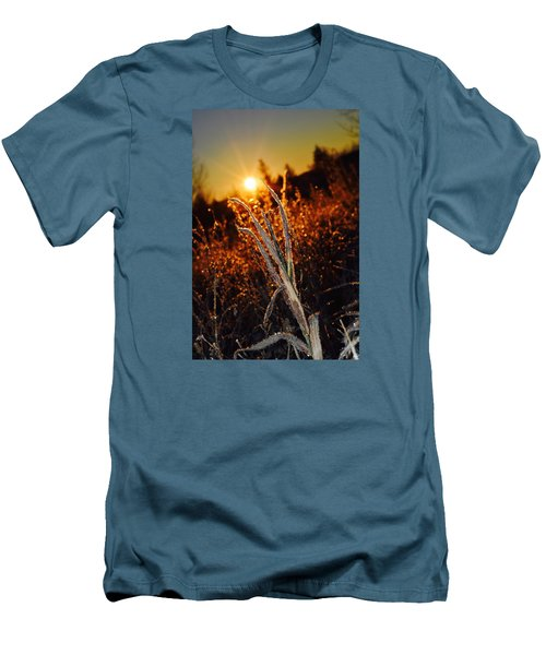 Men's T-Shirt (Slim Fit) featuring the photograph Frosty Sunrise by Dacia Doroff