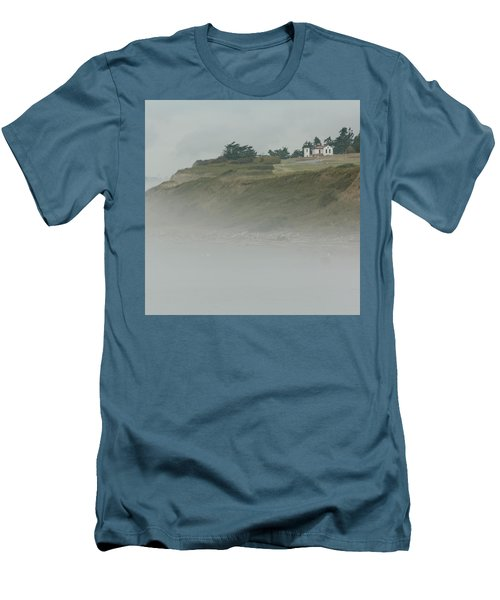 Ft. Casey Lighthouse Men's T-Shirt (Slim Fit) by Tony Locke