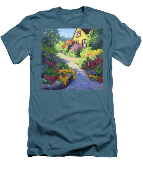 Garden Path Men's T-Shirt (Slim Fit) by Karen Ilari