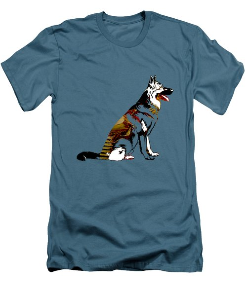 German Sheperd Collection Men's T-Shirt (Slim Fit) by Marvin Blaine
