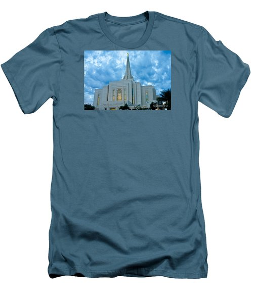 Gilbert Arizona Lds Temple Men's T-Shirt (Athletic Fit)