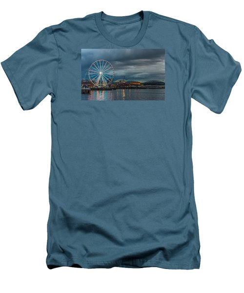Great Wheel Men's T-Shirt (Slim Fit) by Jerry Cahill