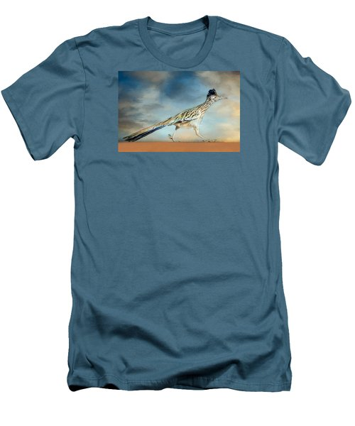 Greater Roadrunner Men's T-Shirt (Slim Fit) by Barbara Manis