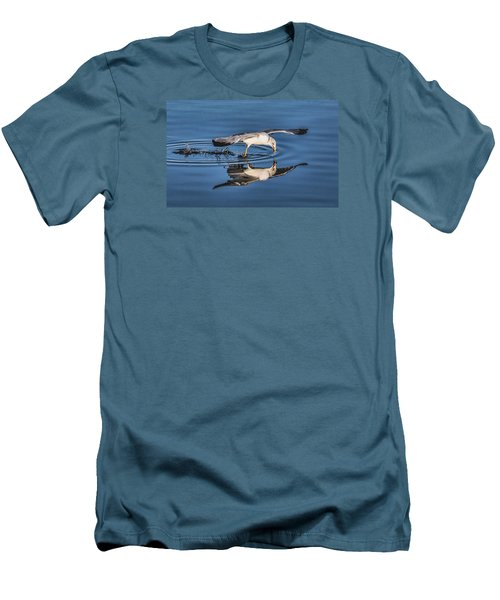 Gull Reflection Men's T-Shirt (Slim Fit) by Susi Stroud