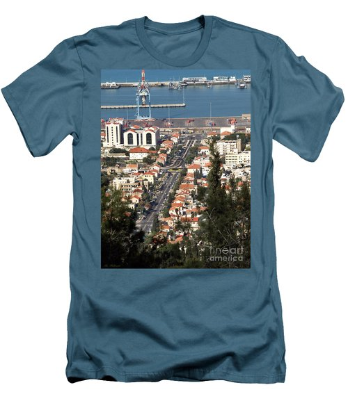 Men's T-Shirt (Slim Fit) featuring the photograph Haifa - The German Colony by Arik Baltinester